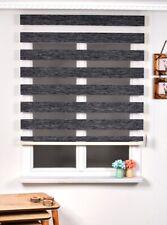 Brillant Bambo Zebra Black Roller Blinds 100 X 200 cm Home Office Window Shades