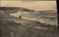 Block Island RI Pebbly Beach c1910 Postcard