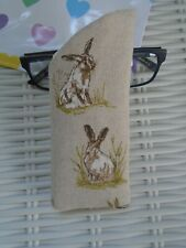 HARE GLASSES CASE HARES VISION CASES NIGHT DANCING GIFT UNIQUE PADDED LINED NEW