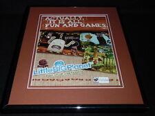 Little Big Planet 2007 PS2 Framed 11x14 ORIGINAL Advertisement