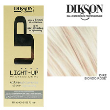 Lotto 3x DIKSON LIGHT UP Ultra Schiarente #13RE Biondo Rosè Colore Tinta Capelli