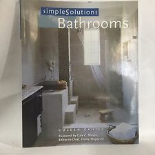 Simple Solutions: Bathrooms by Coleen Cahill Illustrated Free Shipping