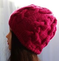 Hand Knitted Beanie Warm Winter Womens Hat Australia Made