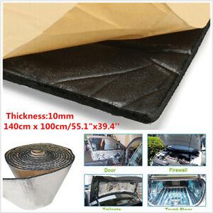 1.4*1M 10mm Car SUV Floor Hood Sound Proofing Deadener Heat Noise Insulation Mat