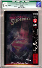 SUPERMAN FOREVER #1 CGC 9.6 (Q) LENTICULAR DF SIGNED ALEX ROSS SKETCH RUBINSTEIN