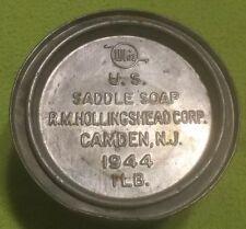 Vintage ~ WHIZ ~ U.S. ~ 1944 ~ Saddle Soap ~ 1 Pound ~ Tin