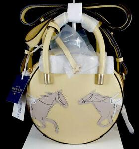 RADLEY Royal Ascot Leather Circle Grab Bag  - BNWT RRP £189