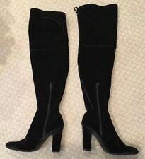 Unisa Women's Black Velvet Over The Knee Boots 7.5M