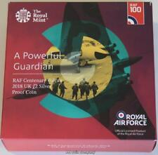 2018 Vulcan Bomber UK £2 Silver Proof Piedfort Coin RAF Issued By The Royal Mint