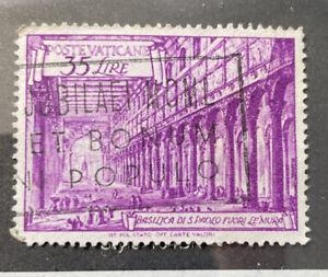 Vatican #129 Used 35 Lire St Paul Basilica