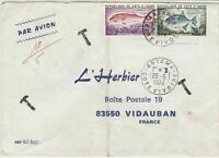 Rep De Cote D'ivoire 1974 Airmail Anyama Cancels Fishes Stamps Cover Ref 30798