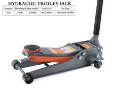3TON Low Profile Dual Pump Hydraulic Trolley Floor Jack (min,75MM-Max,500MM)