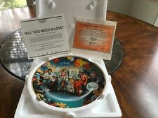 """""""All You Need Is Love"""" Collector Plate The Beatles: 1967-1970 Collection"""