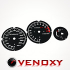 Honda CBR 600 F4 99-00 UNIQUE Gauge Faces BLACK Speedo Dial Clock Tach