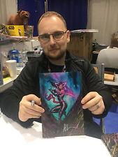 Astonishing X-Men 1 SDCC 2017 Signed Adi Granov Psylocke Virgin Set 2 Variant