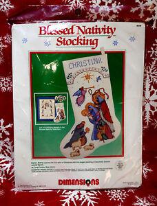 New! Dimensions BLESSED NATIVITY STOCKING Needlepoint Christmas Kit Baby Jesus