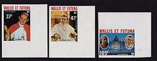 France (Wallis & Futuna) - 1979 Popes - U/M - SG 304-6 IMPERF