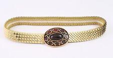 VertrauenswüRdig Dg109 Schuppengürtel Taillengürtel Metall Gold Elastisch 60-95 Cm Vintage Kleidung & Accessoires