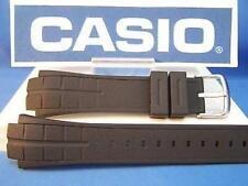 Casio Watch Band MTD-1057, MDV-501 Black Rubber Strap Steel buckle w/Attch Pins