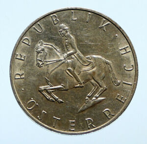 1966 AUSTRIA Spanish HORSE RIDER Vintage Silver 5 Shilling Austrian Coin i96463