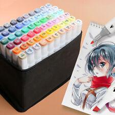 24-80 Colors Paint Alcohol Painting Markers Set Brush Paint Pens Set Art Student
