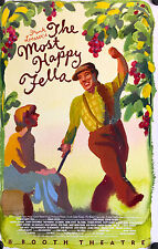 "THE MOST HAPPY FELLA-ORIGINAL REVIVAL BROADWAY WINDOW CARD 1992 22"" X 14"""