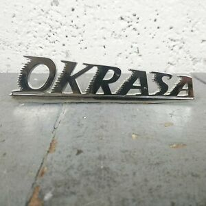 Okrasa Emblem Badge VW split oval bus 356 kdf karmann ghia samba zwitter petri