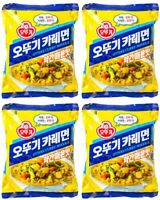 Korean Instant Noodle OTTOGI Curry Noodle Ramen Ramyun 4pack A little bit spicy