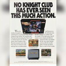 Super Nintendo SNES Capcom KNIGHTS OF THE ROUND video game magazine print ad