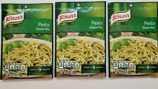 Lot of 3 Knorr Pesto Sauce Mix Packets (.5 oz) Exp Aug 2022 *FREE SHIPPING*