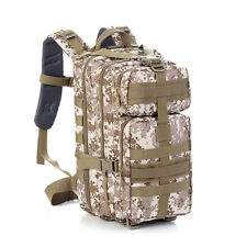 30L Hiking Camping Bag Army Military Tactical Trekking Rucksack Backpack Camo