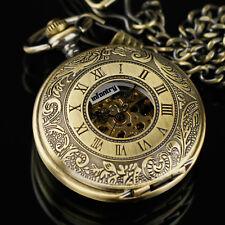 INFANTRY Mechanical Pocket Watch Skeleton Double Half Hunter Antique Design UK
