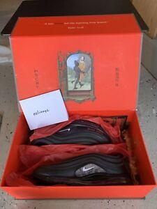 Lil Nas x MSCHF Satan Air Max 97 collector shoes Size 9 Euro 42 UK 8