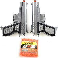 2 PC UKARMS M777S SPRING AIRSOFT PISTOL HAND GUN AIR w/ 1000 BB BBs 6mm