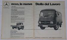 Advert Pubblicità 1972 MERCEDES L 206 D / L 508 D