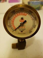 Vintage Brass Airco Air Reduction Gauge 4000 Pound 8410093 Steampunk