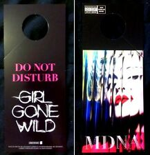 "Madonna  MDNA Rare Promo GIRL GONE WILD  ""Do Not Disturb""  door hanger - NEW"