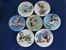 CHILLY WILLY SUB ARTIC PENGUIN 7 PINS BUTTONS BADGE
