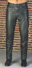 BLACK LEATHER JEANS PANTS Great fit