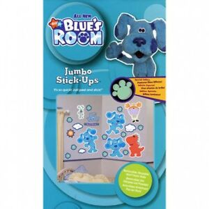 Blues Clues Kid's Room Jumbo Wall Decal Reusable Stick Ups