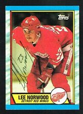 Lee Norwood #75 signed autograph auto 1989-90 Topps Hockey Trading Card