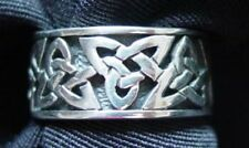 LOOK Celtic Knot Sterling Silver Ring Wicca Pagan Jewelry