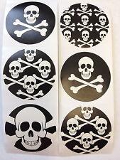 50 Pirate Skull Crossbones Stickers Party Favor Teacher Supply Halloween 3