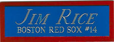 JIM RICE BOSTON NAMEPLATE AUTOGRAPHED SIGNED Baseball Display CUBE CASE