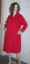 Vintage 50s Fabulous BRIGHT RED Brushed WOOL V-YOKED Coat~!