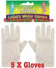 I bambini guanti bianchi corti Mago Guanti Bambini Unisex Uk LOTTO 5x Guanti