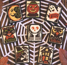 Boo To You Halloween Ornaments Prairie Schooler Cross Stitch Pattern No. 156