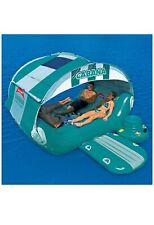 Large outdoor 6 person inflatable cabana pool float for ocean lake pool (a)