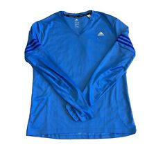 Men's adidas Response Long Sleeve Energy Running T-Shirt Blue Xl Climacool