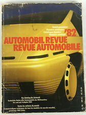 Automobil Revue Katalog 82 - Revue Automobile Catalogue German French 1982